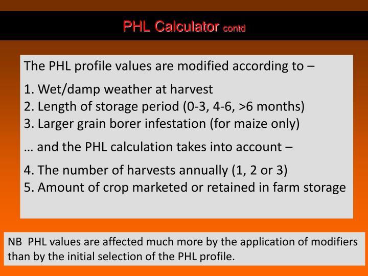 PHL Calculator