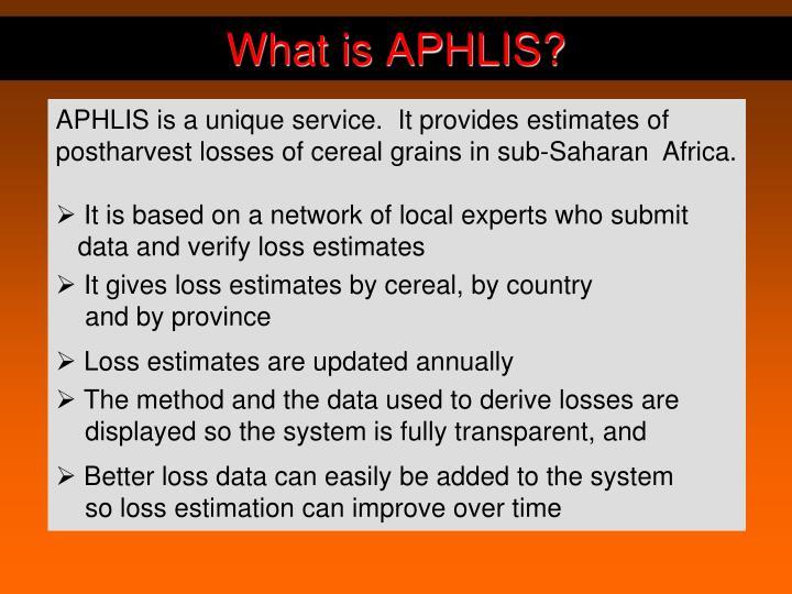 What is APHLIS?