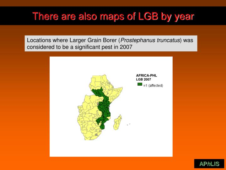 There are also maps of LGB by year