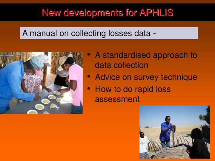 A standardised approach to data collection