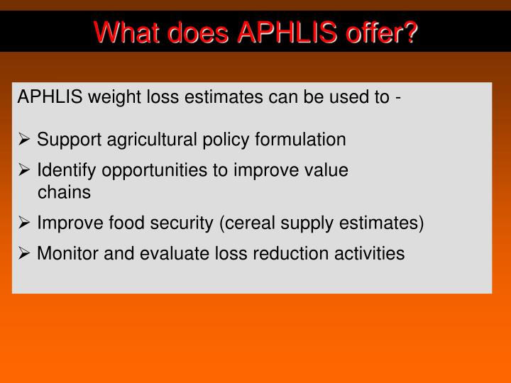 What does APHLIS offer?