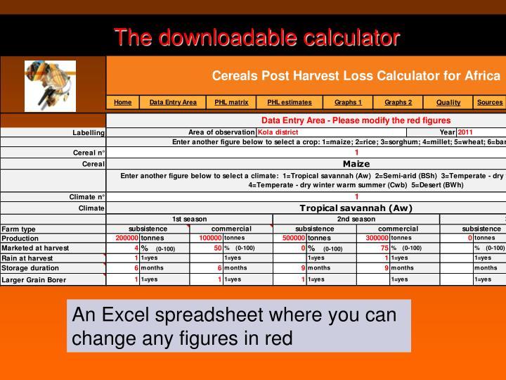 The downloadable calculator