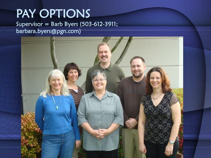 PAY OPTIONS