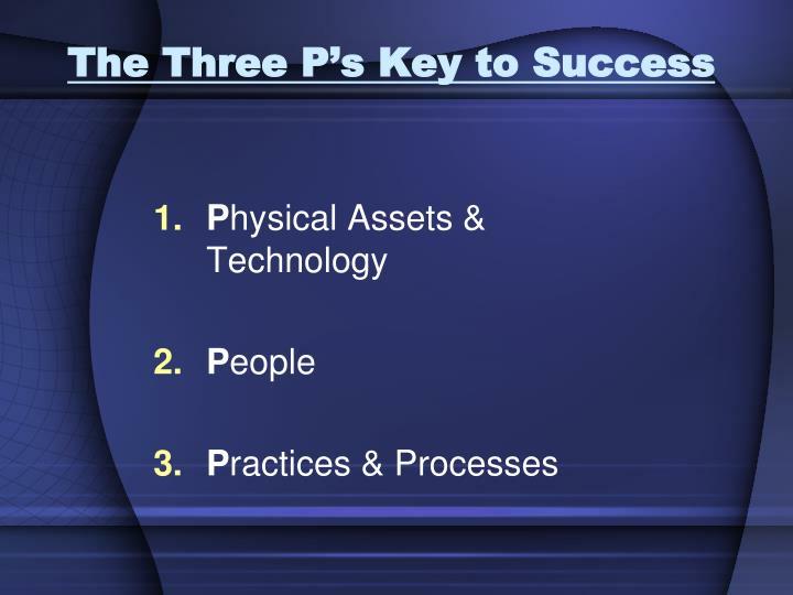 The Three P's Key to Success