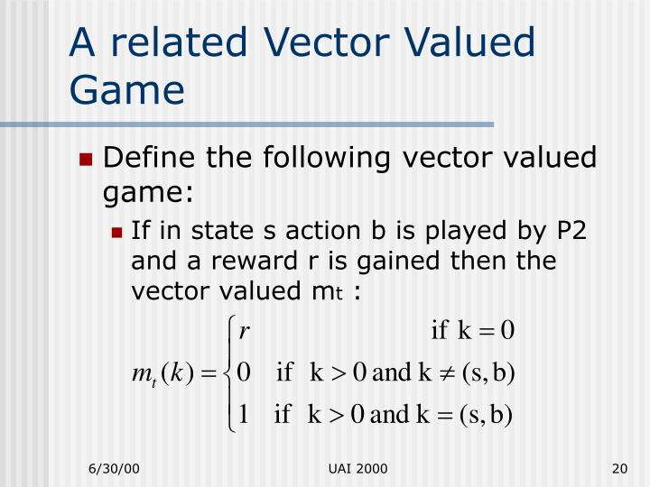 A related Vector Valued Game