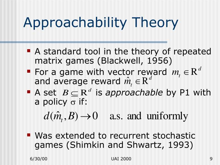 Approachability Theory