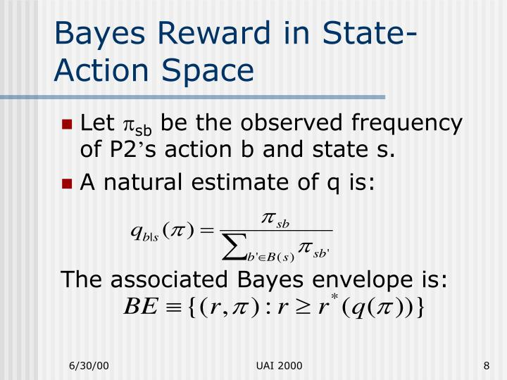 Bayes Reward in State-Action Space