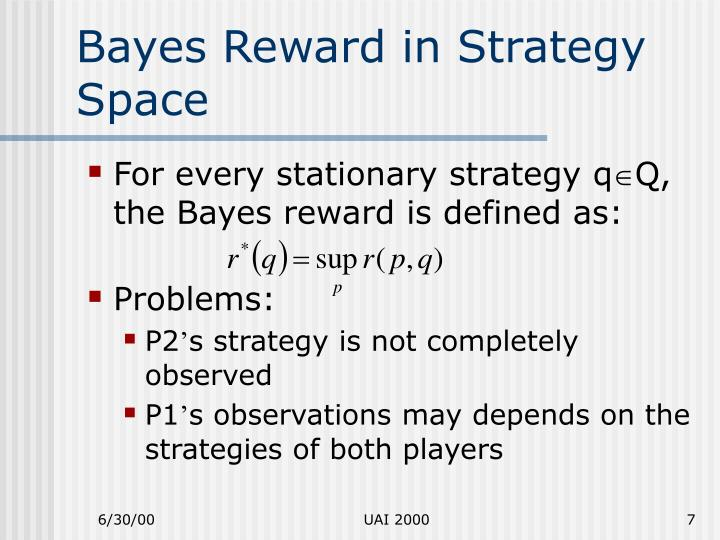 Bayes Reward in Strategy Space
