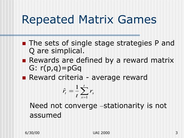 Repeated Matrix Games