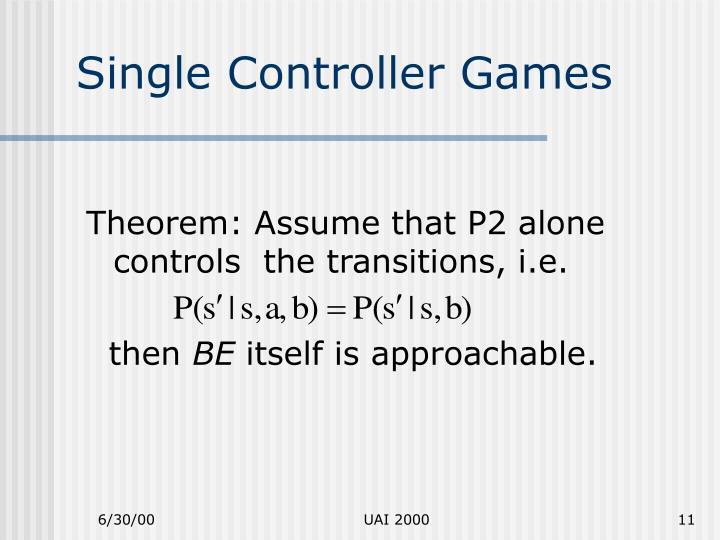Single Controller Games
