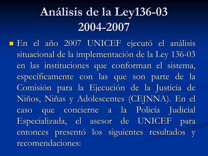 Análisis de la Ley136-03