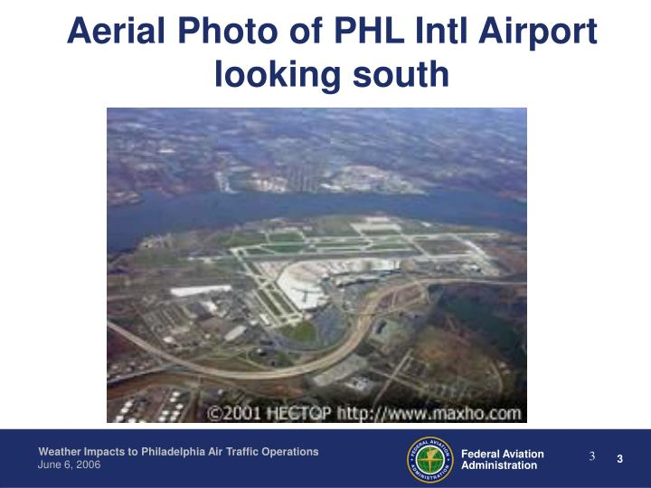 Aerial Photo of PHL Intl Airport looking south
