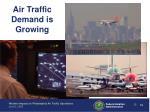 air traffic demand is growing