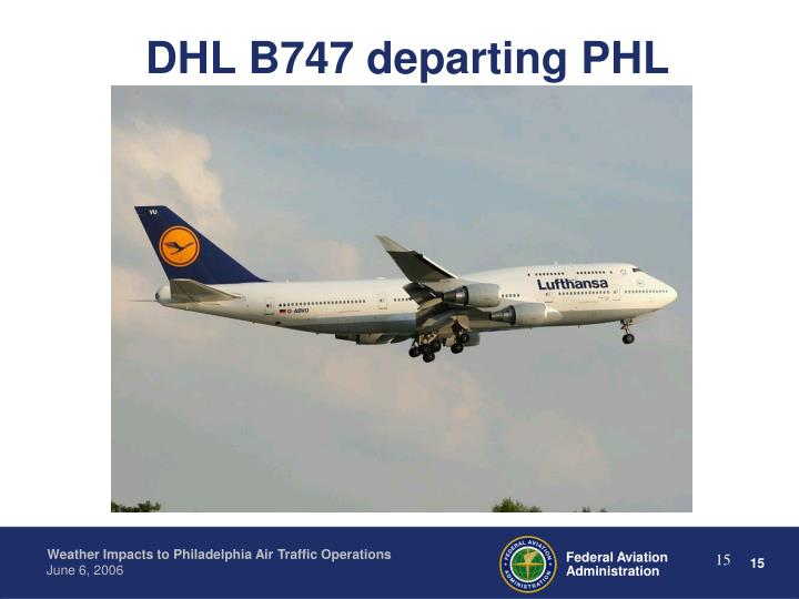 DHL B747 departing PHL