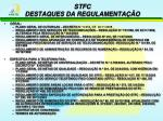 stfc destaques da regulamenta o