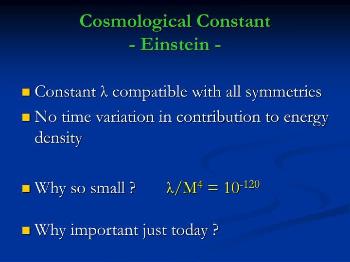 Cosmological Constant