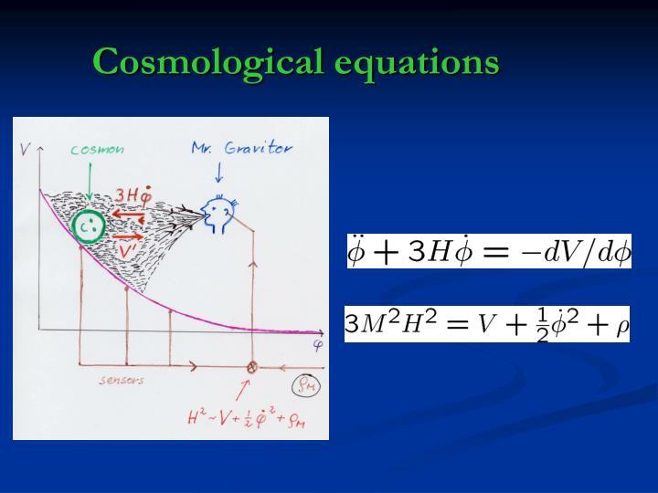 Cosmological equations