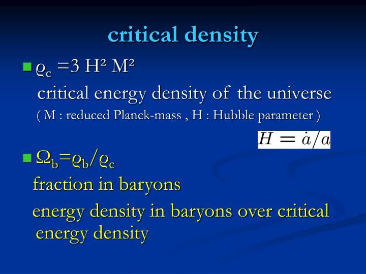 critical density
