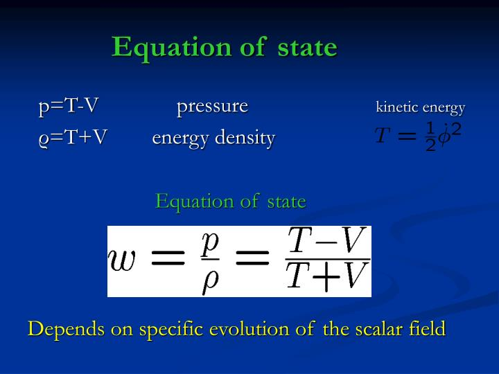 Equation of state