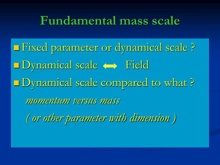 Fundamental mass scale