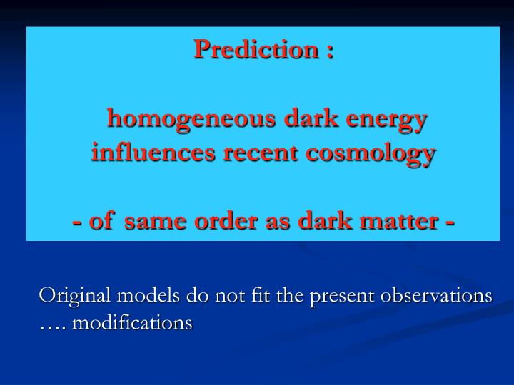 Prediction :