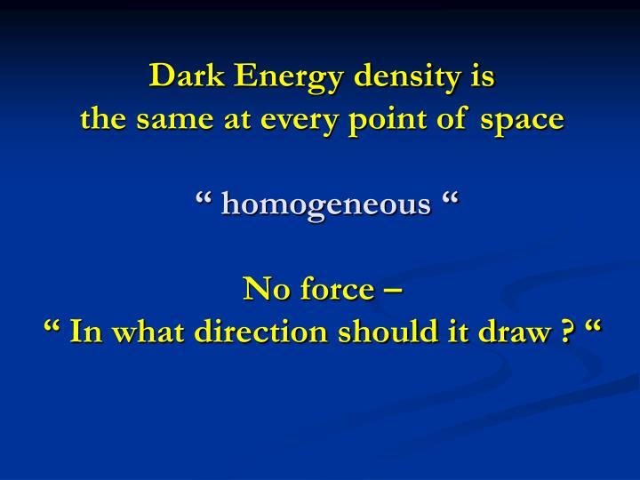 Dark Energy density is