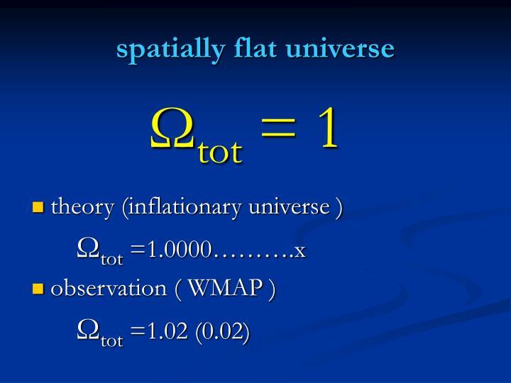 spatially flat universe