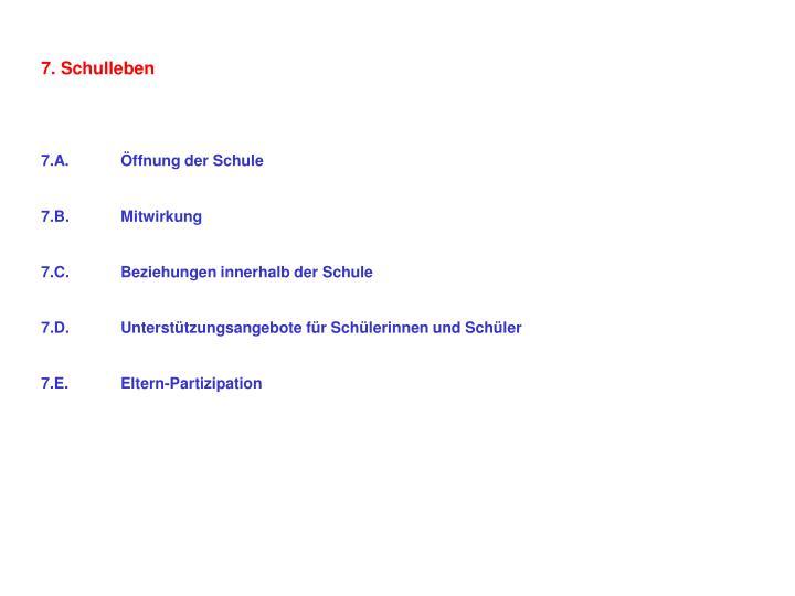 7. Schulleben