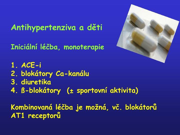 Antihypertenziva a děti