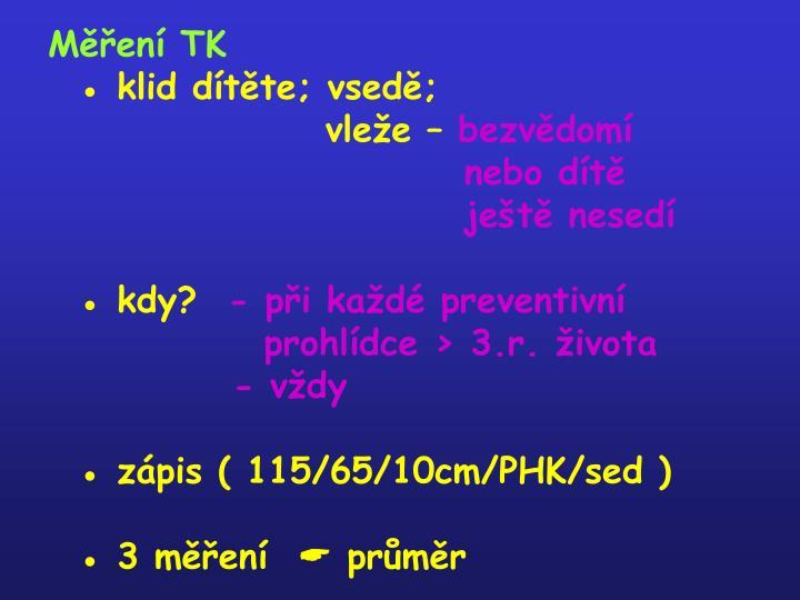 Měření TK