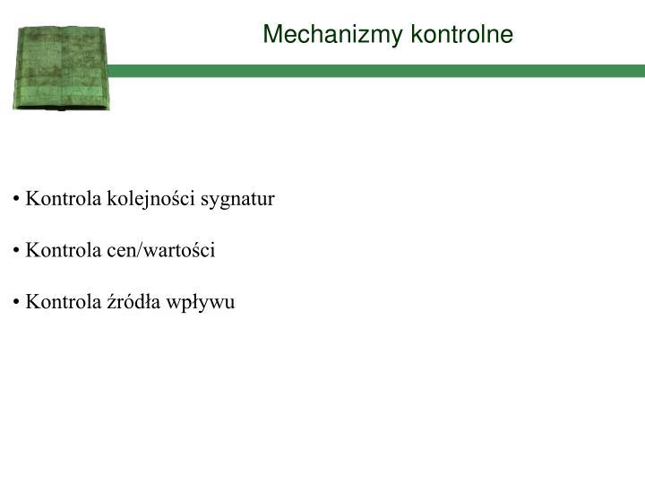 Mechanizmy kontrolne