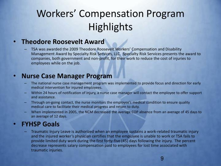 Workers' Compensation Program Highlights