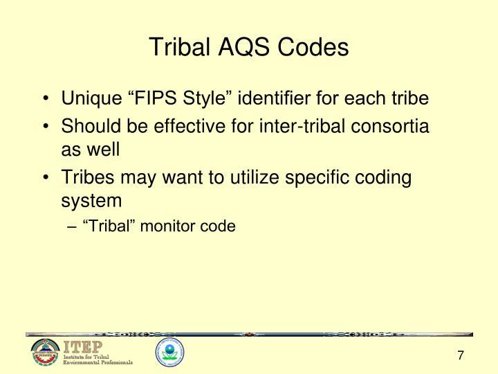 Tribal AQS Codes