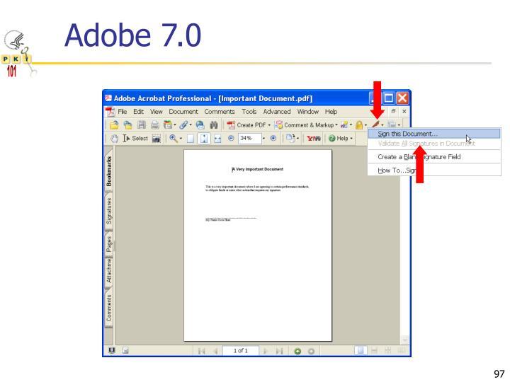 Adobe 7.0