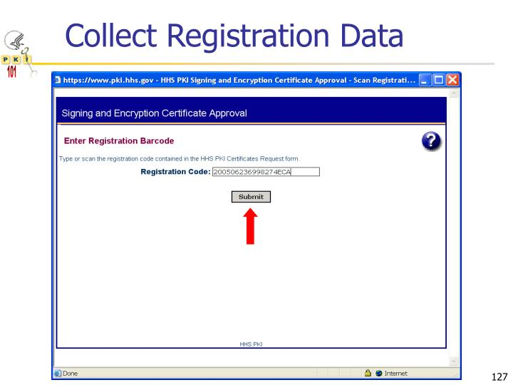Collect Registration Data
