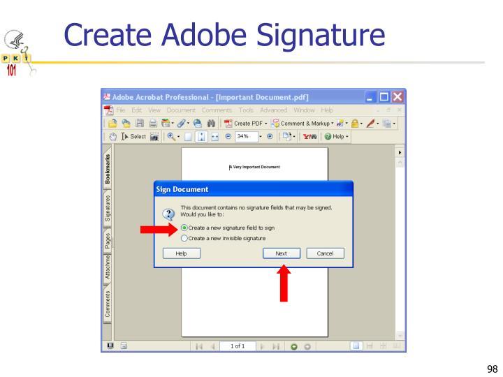 Create Adobe Signature
