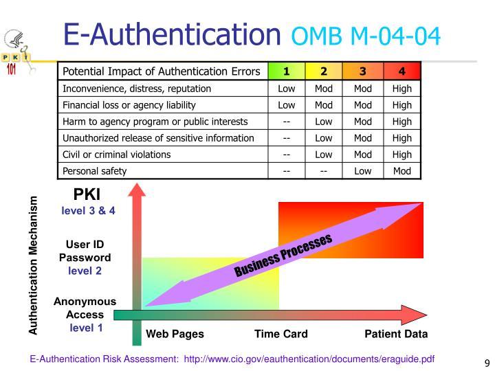 E-Authentication