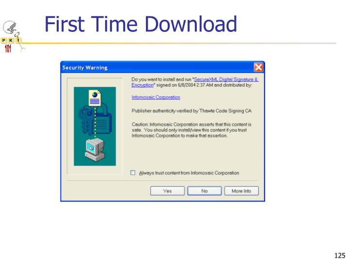 First Time Download