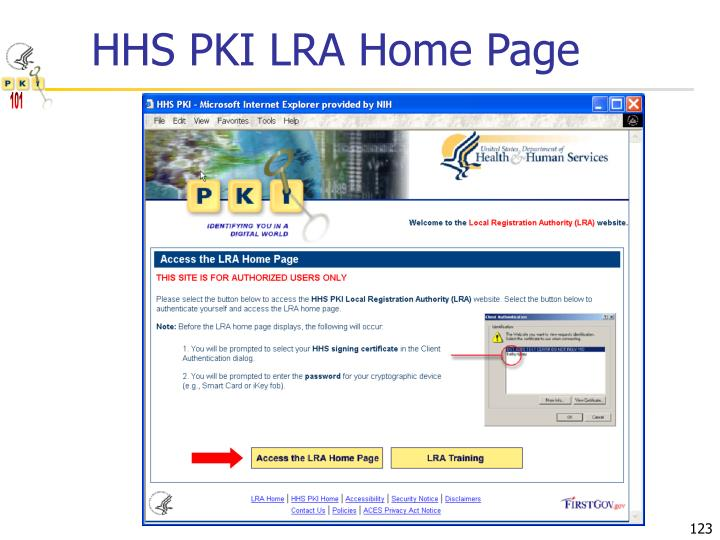 HHS PKI LRA Home Page