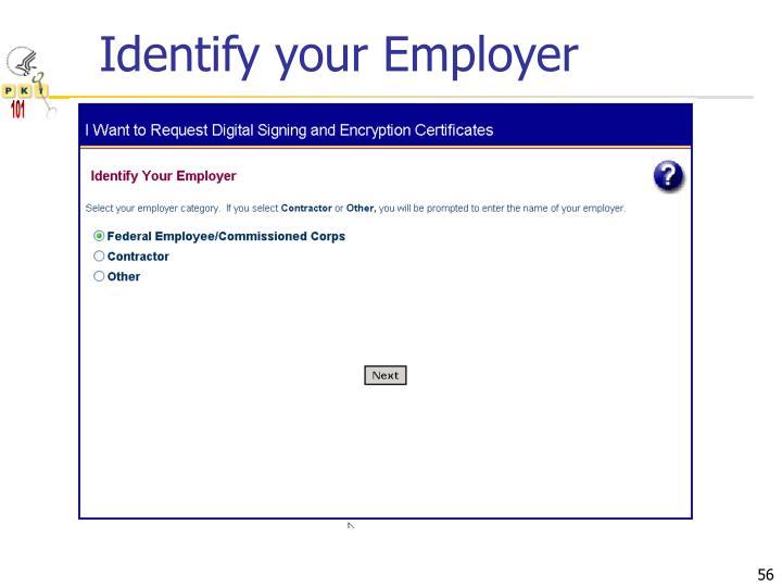Identify your Employer