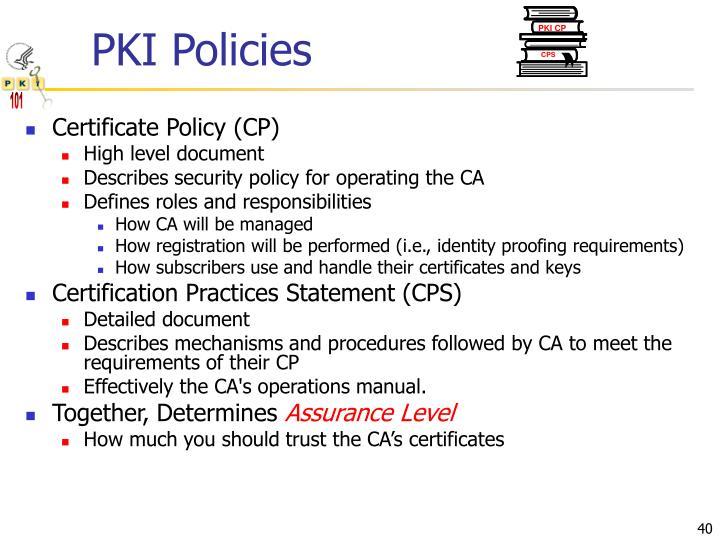 PKI Policies