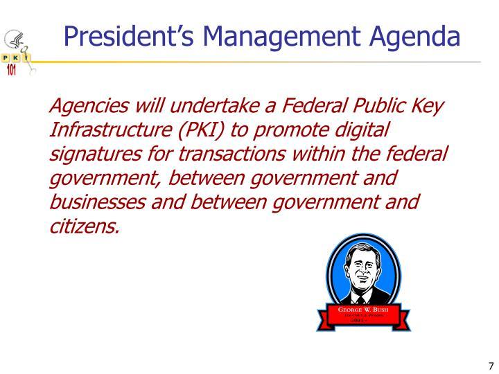 President's Management Agenda