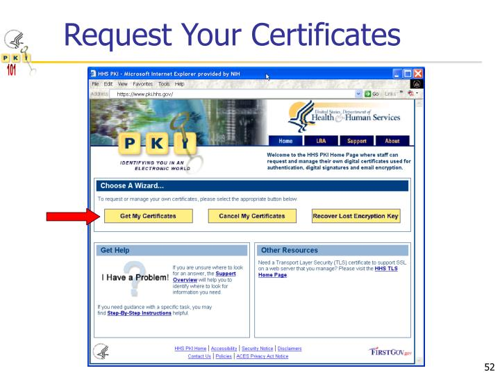 Request Your Certificates