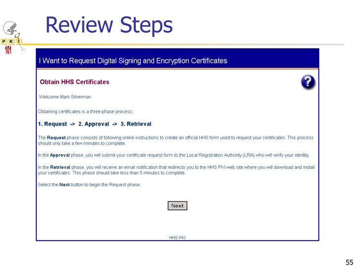 Review Steps