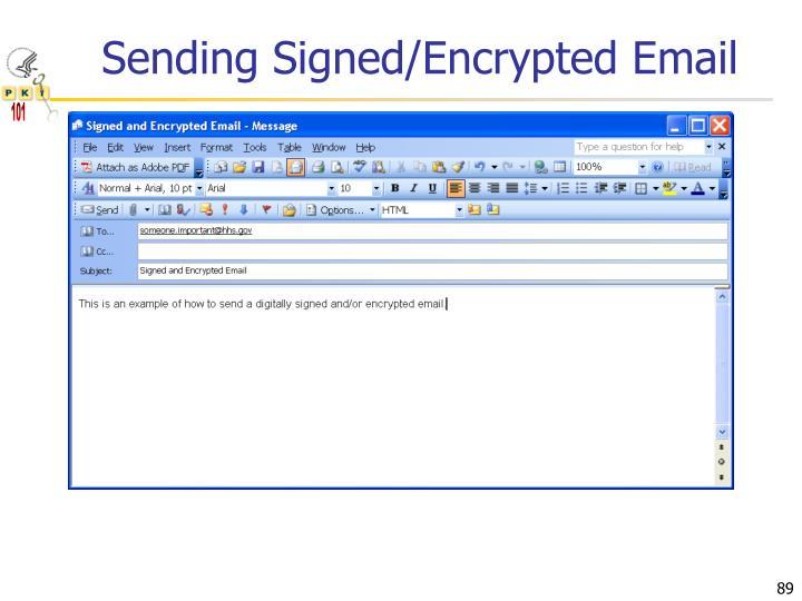 Sending Signed/Encrypted Email