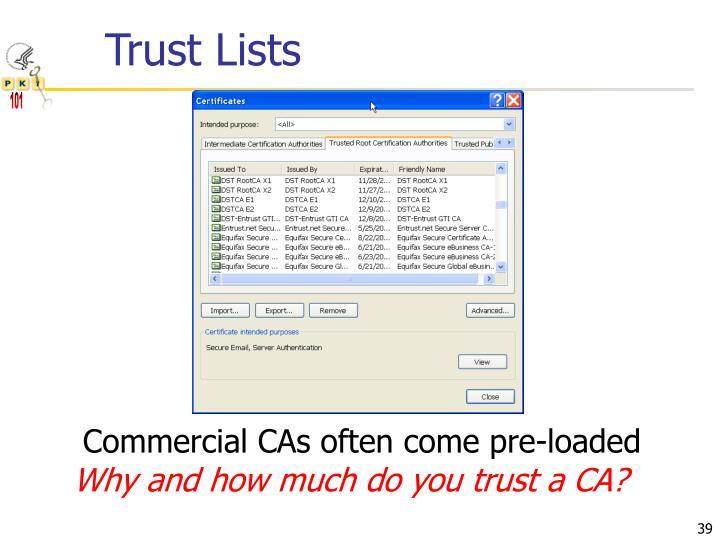 Trust Lists