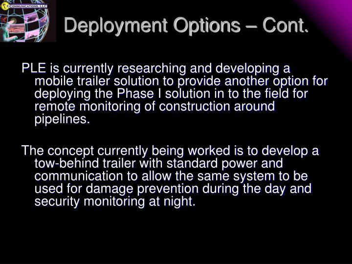 Deployment Options – Cont.