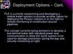 deployment options cont