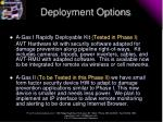 deployment options