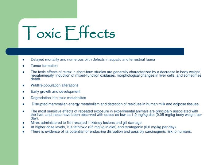 Toxic Effects
